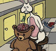 Teddy Bear And Bunny - Slushie by Brett Gilbert