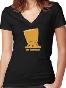 Any thoughts ? Women's Fitted V-Neck T-Shirt