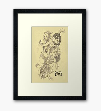'The Slayer' by Kevin C. Steele Framed Print