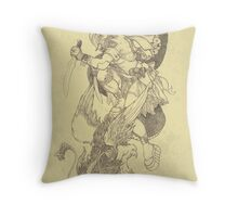 'The Slayer' by Kevin C. Steele Throw Pillow
