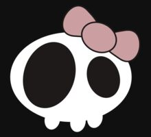 Kawaii Skull - Pink Ribbon by Warp9