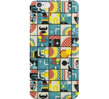Blue monster pattern. iPhone Case/Skin
