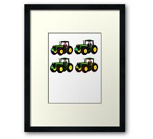 4 tractor fun Framed Print