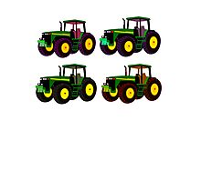 4 tractor fun Photographic Print
