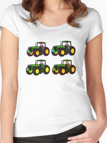 4 tractor fun Women's Fitted Scoop T-Shirt