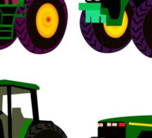 4 tractor fun Sticker