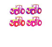 4 tractor fun Photographic Print