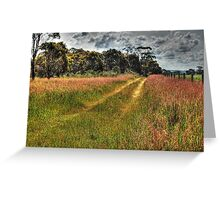 A Country Track #2 Greeting Card
