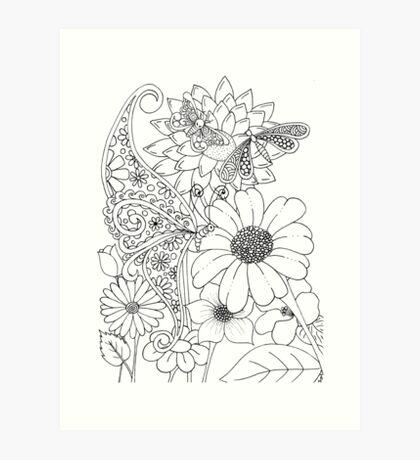 Flies in the Garden Art Print