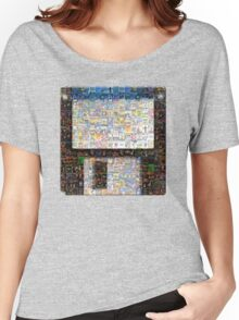 PC Games Floppy Disk or Diskette Mozaik - Retro DOS games fan shirt Women's Relaxed Fit T-Shirt