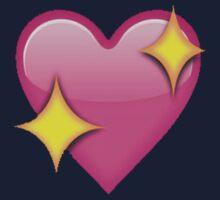 Sparkle heart emoji Kids Tee