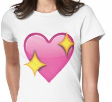 Sparkle heart emoji Womens Fitted T-Shirt