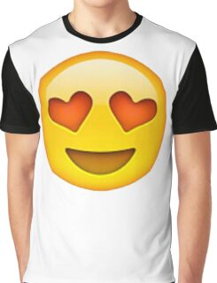 Heart Eye Emoji Graphic T-Shirt
