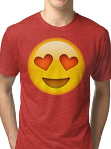 Heart Eye Emoji Tri-blend T-Shirt