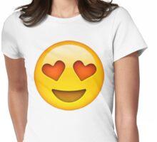Heart Eye Emoji Womens Fitted T-Shirt
