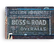 Ghost Sign: Boss of the Road, Sacramento Canvas Print
