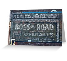 Ghost Sign: Boss of the Road, Sacramento Greeting Card