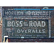 Ghost Sign: Boss of the Road, Sacramento Photographic Print