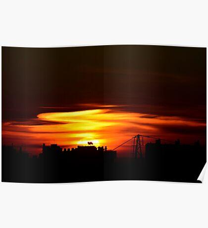 Lisbon Skyline Poster