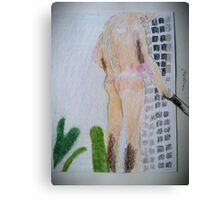 boy in shower from david hockney Canvas Print