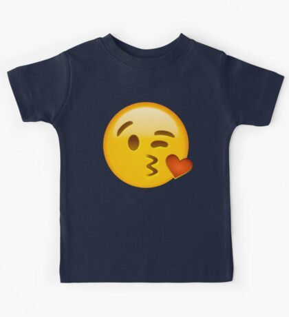 Kiss heart emoji Kids Tee
