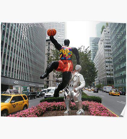 Art Installation and Sculpture, Park Avenue, New York, Niki de Saint Phalle, Artist Poster