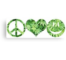 Peace, Love, and Happiness Canvas Print