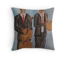 Jazz Musicians Throw Pillow
