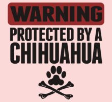Warning Protected By A Chihuahua One Piece - Long Sleeve