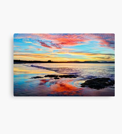 Reflections on a day gone by - Byron Bay Canvas Print