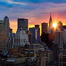 Sunrise Over New York by Janet Fikar