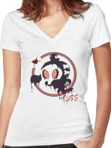 #355 Duskull  Women's Fitted V-Neck T-Shirt