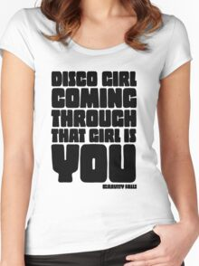 Disco Girl Gravity Falls Women's Fitted Scoop T-Shirt