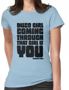 Disco Girl Gravity Falls Womens Fitted T-Shirt