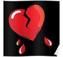Broken heart cartoon Poster