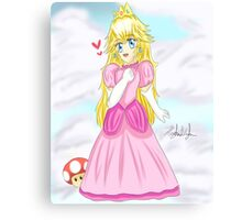 Adorable Chibi Princess Peach Canvas Print