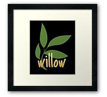 TK Alum Willow Framed Print
