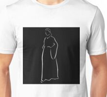 Girl posing in fashionable outfit  Unisex T-Shirt