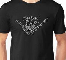 Skull hand fingers Unisex T-Shirt