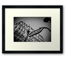 Travel BW - Paris Metro Entrance Framed Print