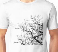 Tree Limbs 2 Black and White Unisex T-Shirt