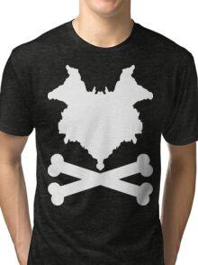 The Blot & Crossbones (White) Tri-blend T-Shirt