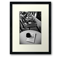 Travel BW - Paris Cafe Framed Print