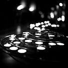 Travel BW - Paris Notre Dame Candles by lesslinear
