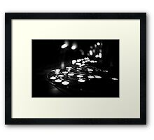 Travel BW - Paris Notre Dame Candles Framed Print