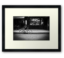 Travel BW - Paris Bicycle Framed Print