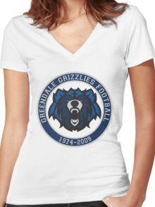 Remember the Grizzlies Women's Fitted V-Neck T-Shirt