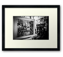 Travel BW - Paris Painting Framed Print