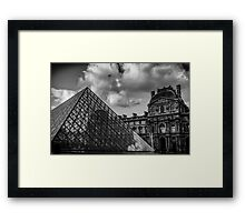 Travel BW - Paris Louvre Framed Print