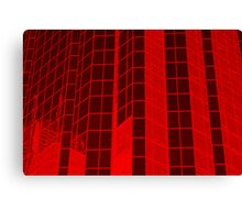Matrix Red Canvas Print